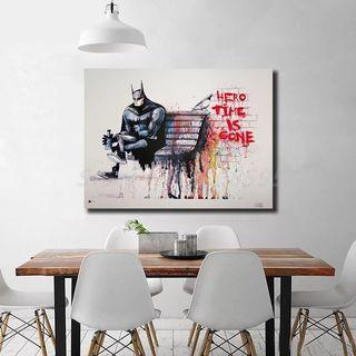 🚚 Banksy Hero Time is Gone Wall Art Canvas Prints