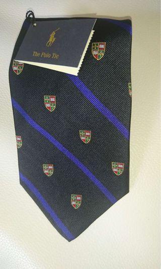 Polo stripe logo tie