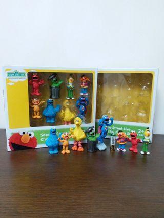 Sesame Street 絕版芝麻街人物 Figure 2隻 Bert Oscar