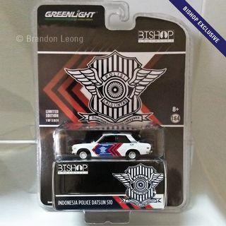 Greenlight Bishop Exclusive - Indonesia Police Datsun 510
