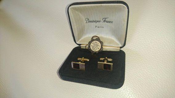 Dominique France cuff links Gold plated cufflinks