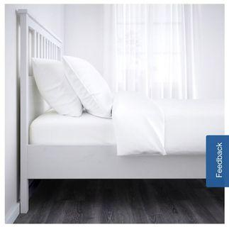 IKEA WHITE HEMNES Bed Frame (with bed base)