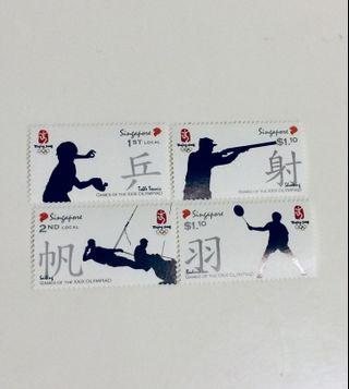 2008 Olympiad Mint Stamps