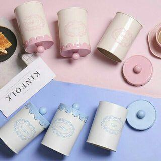 3 can canister (pink/blue) Free Postage
