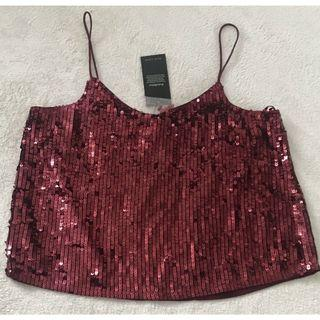 (New with tag) New Look Wine Sequins Top  M size