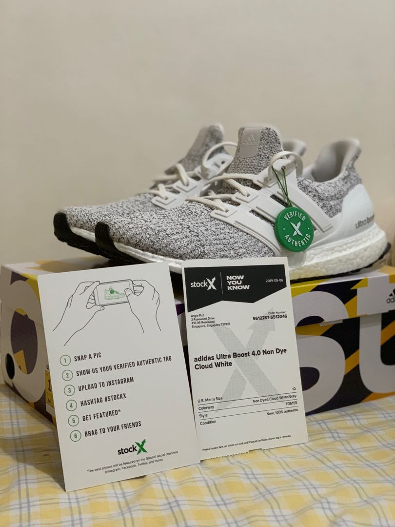 8166ccf73 Adidas Ultra Boost 4.0 Non-Dyed Cloud White, Men's Fashion, Footwear,  Sneakers on Carousell