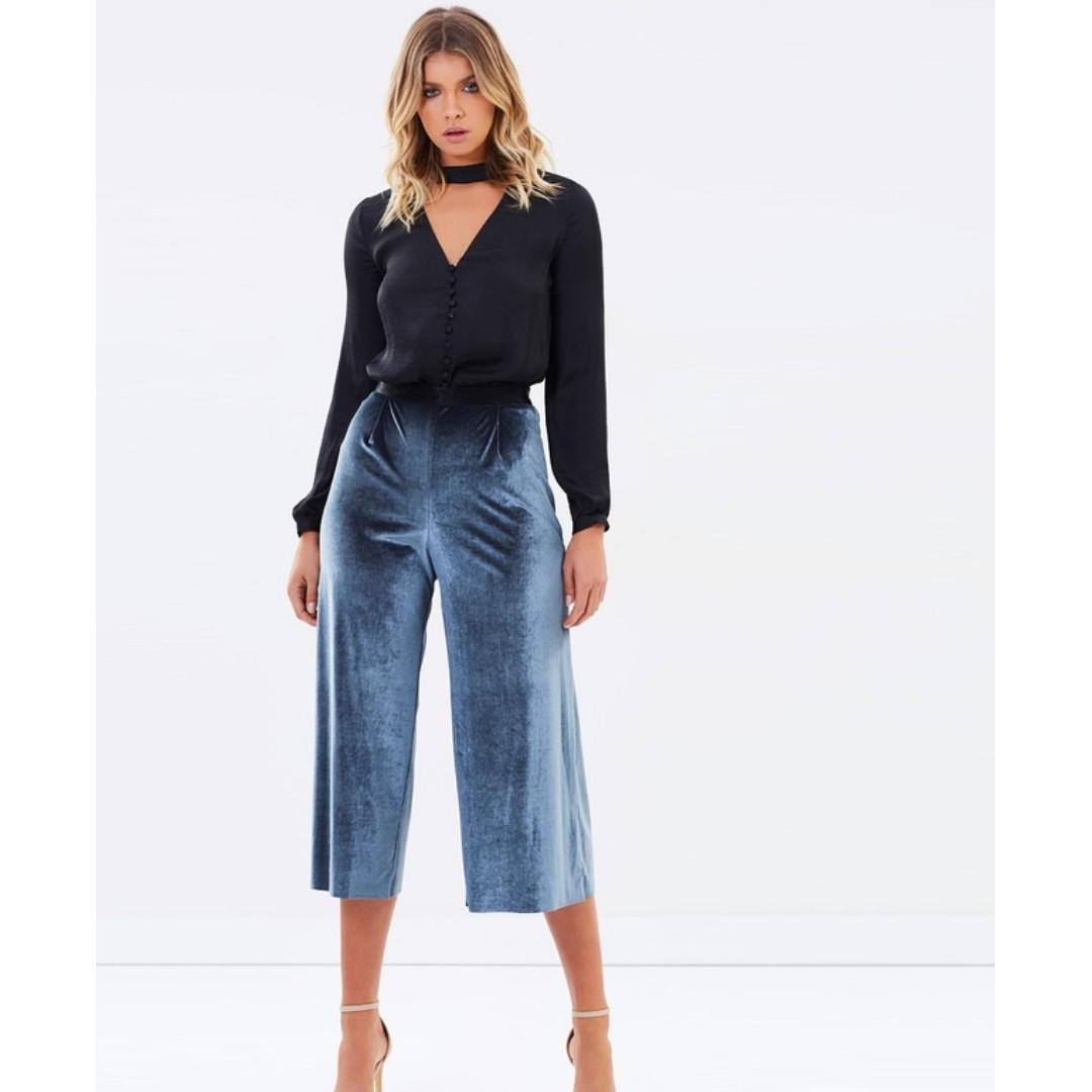 Bec & Bridge-Frost-Velvet Shadow Culottes-size 8-RRP$160-unworn with tags
