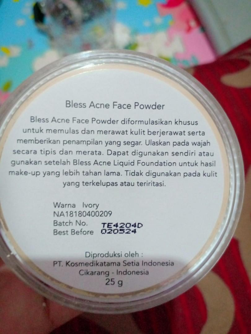 Bedak bless acne shade ivory + foundie bless