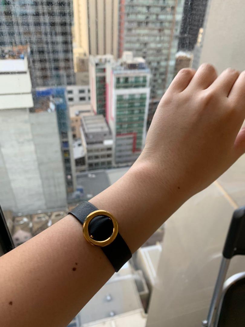Black Leather Bracelet