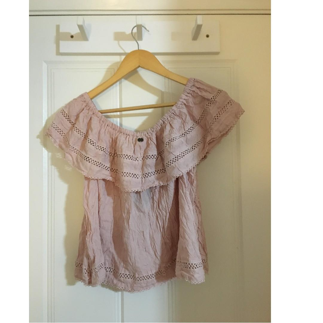 Blush Pink off the shoulder top - Size M - Tags still on