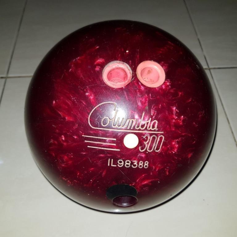 Bola Bowling Vintage Columbia 300 Yellow Dot Ukuran 11