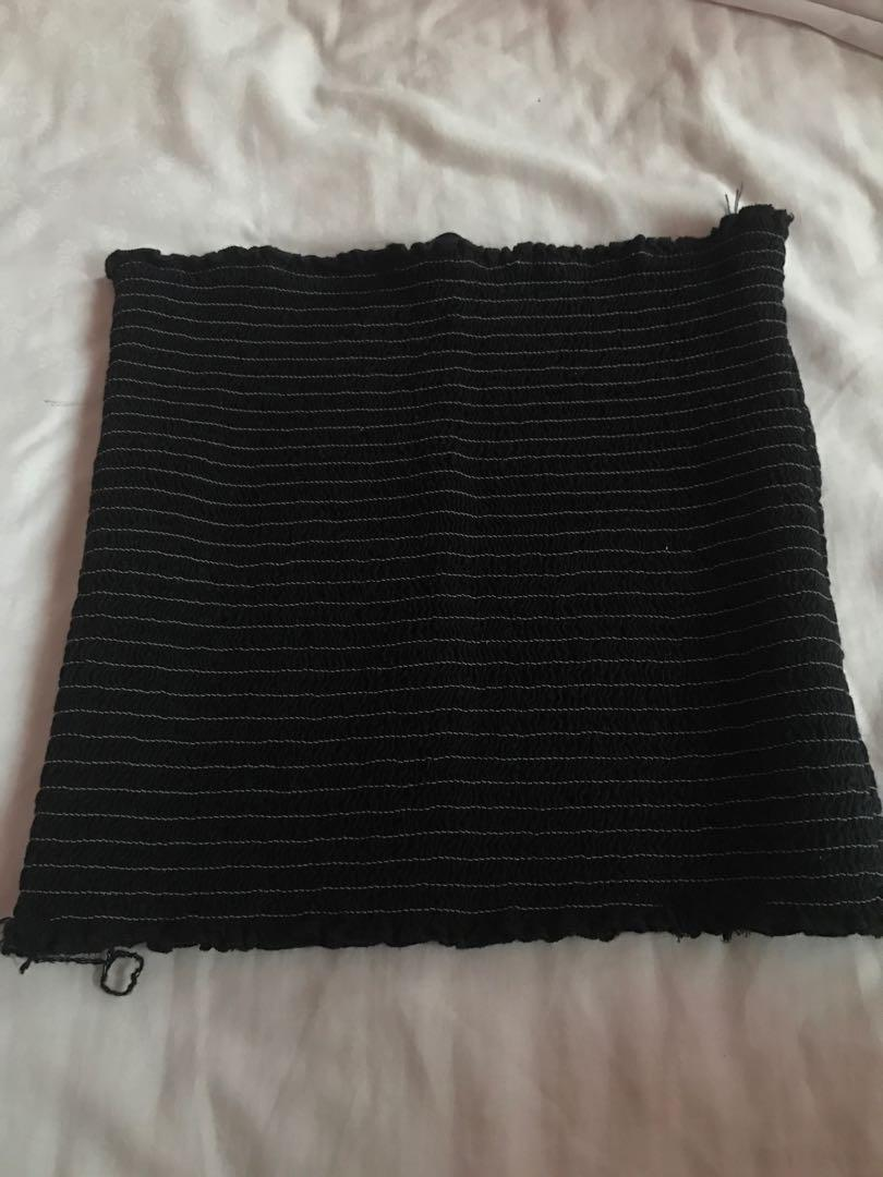 brandy melville black cleo tube top