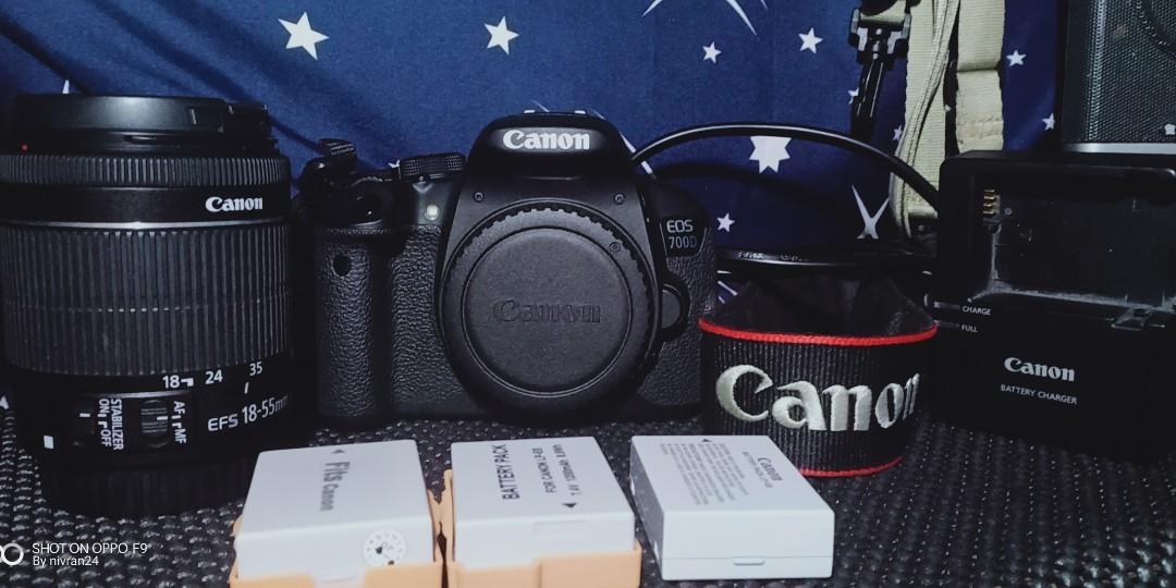 Canon 700d + kit lens 18-55 mm stm