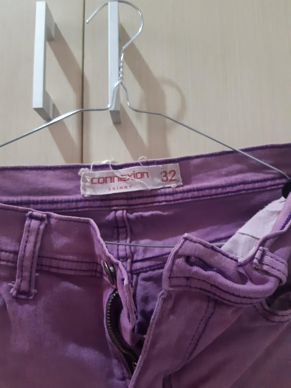 Celana jeans ungu /purple connexion