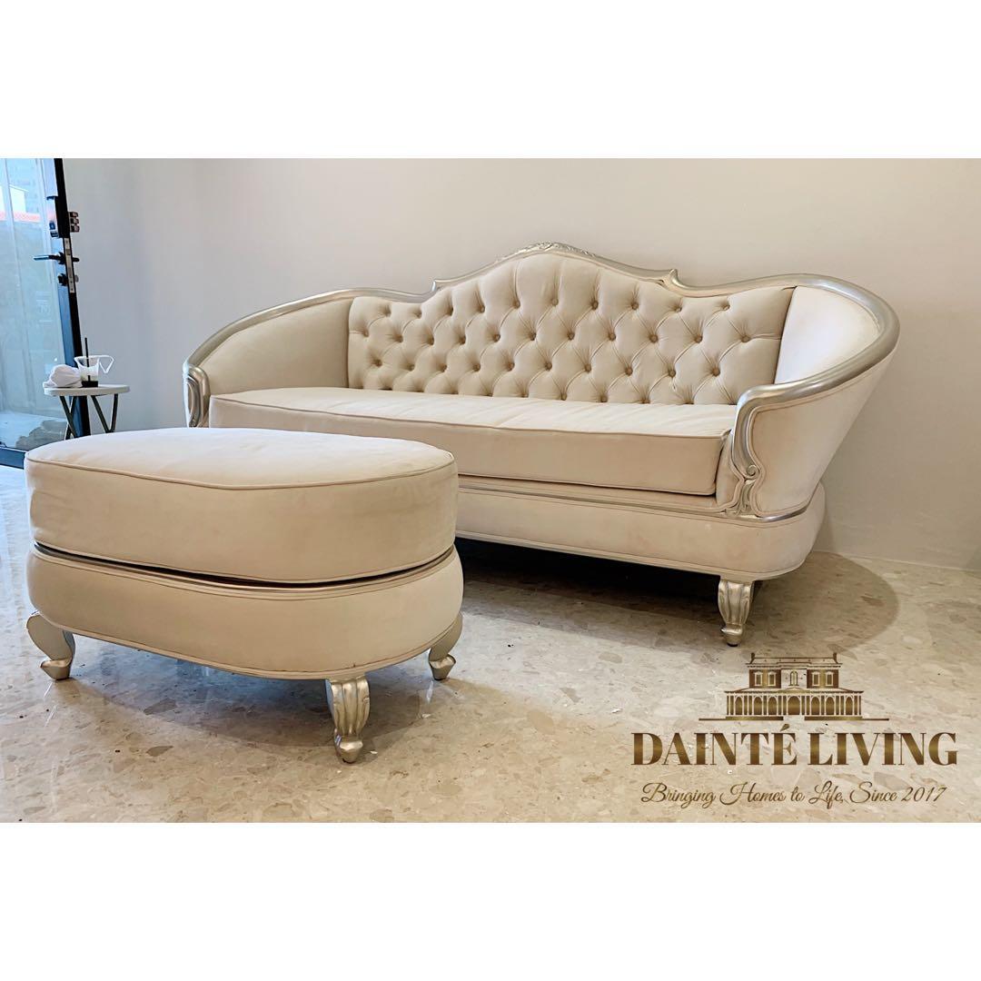 Chloe\'s Vanity-Modern Victorian Sofa & Ottoman Set | Clients ...