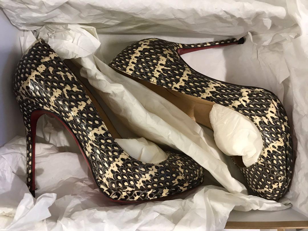 Christian Louboutin Snake Skin Heels/ Pumps