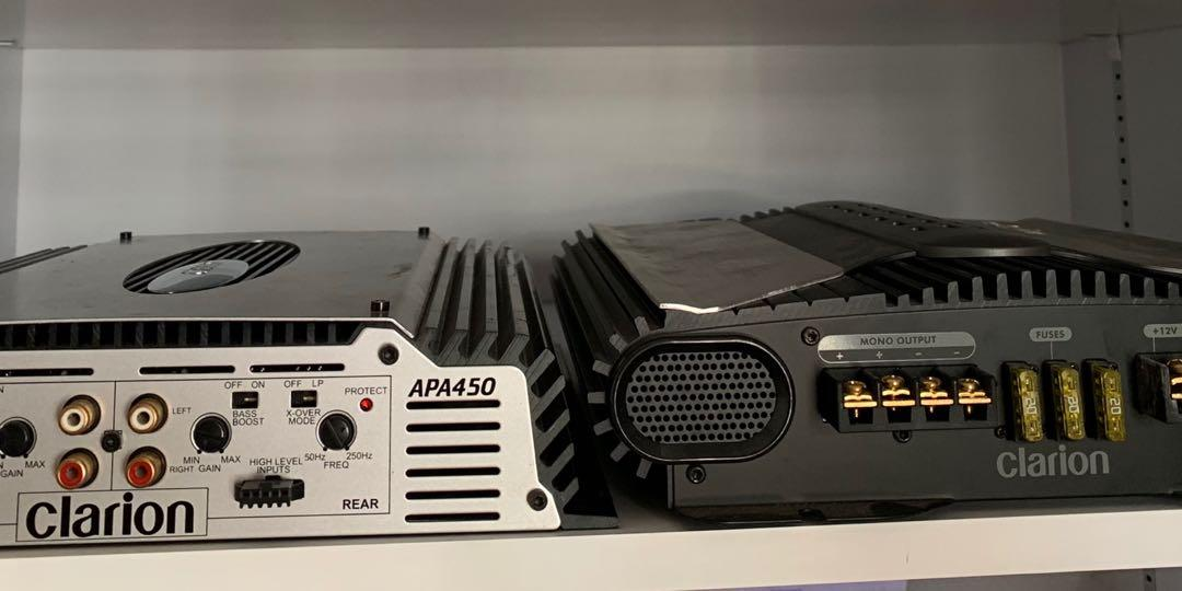 Clarion Amplifier and PreAmp