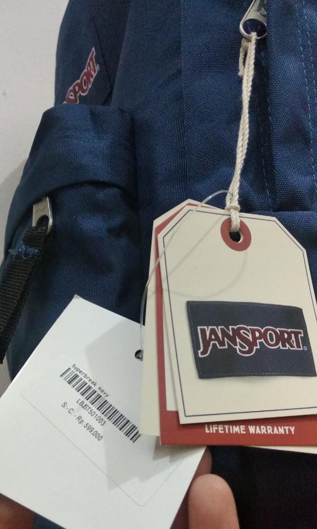 Jual Cepat Tas Bag Jansport Superbreak Navy 25 Liter NEW SALE