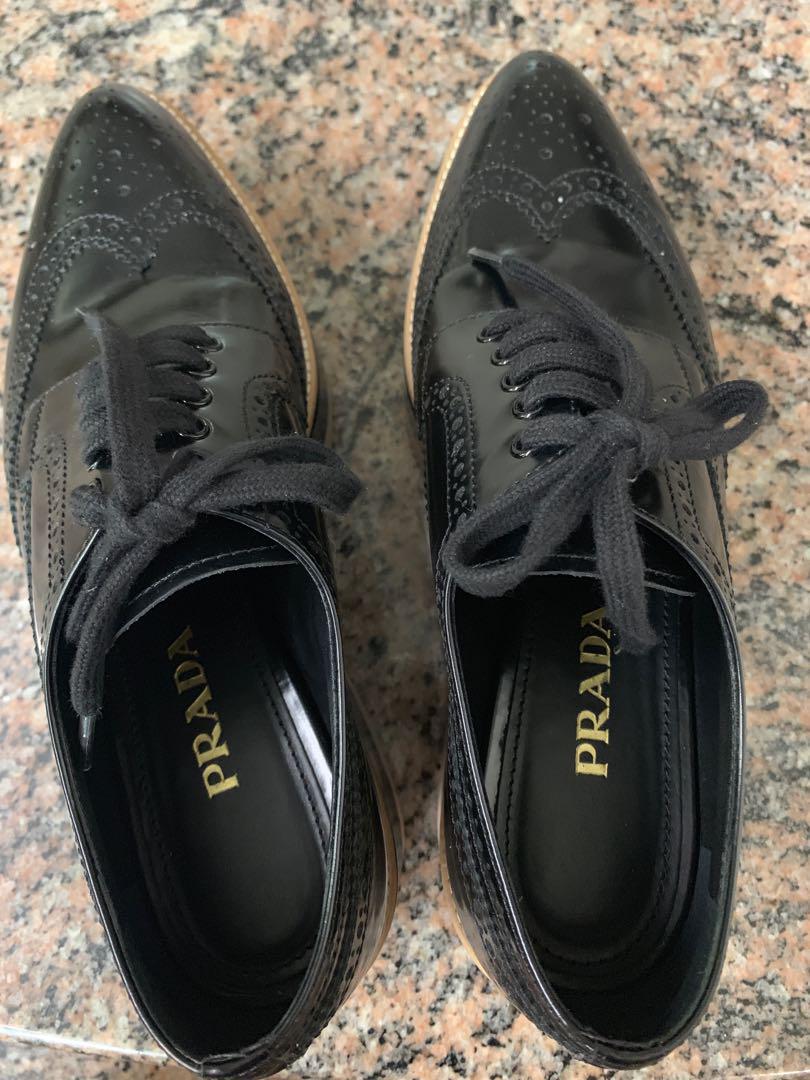 Fire Sale!!! Preloved Authentic Prada Platform Sneakers