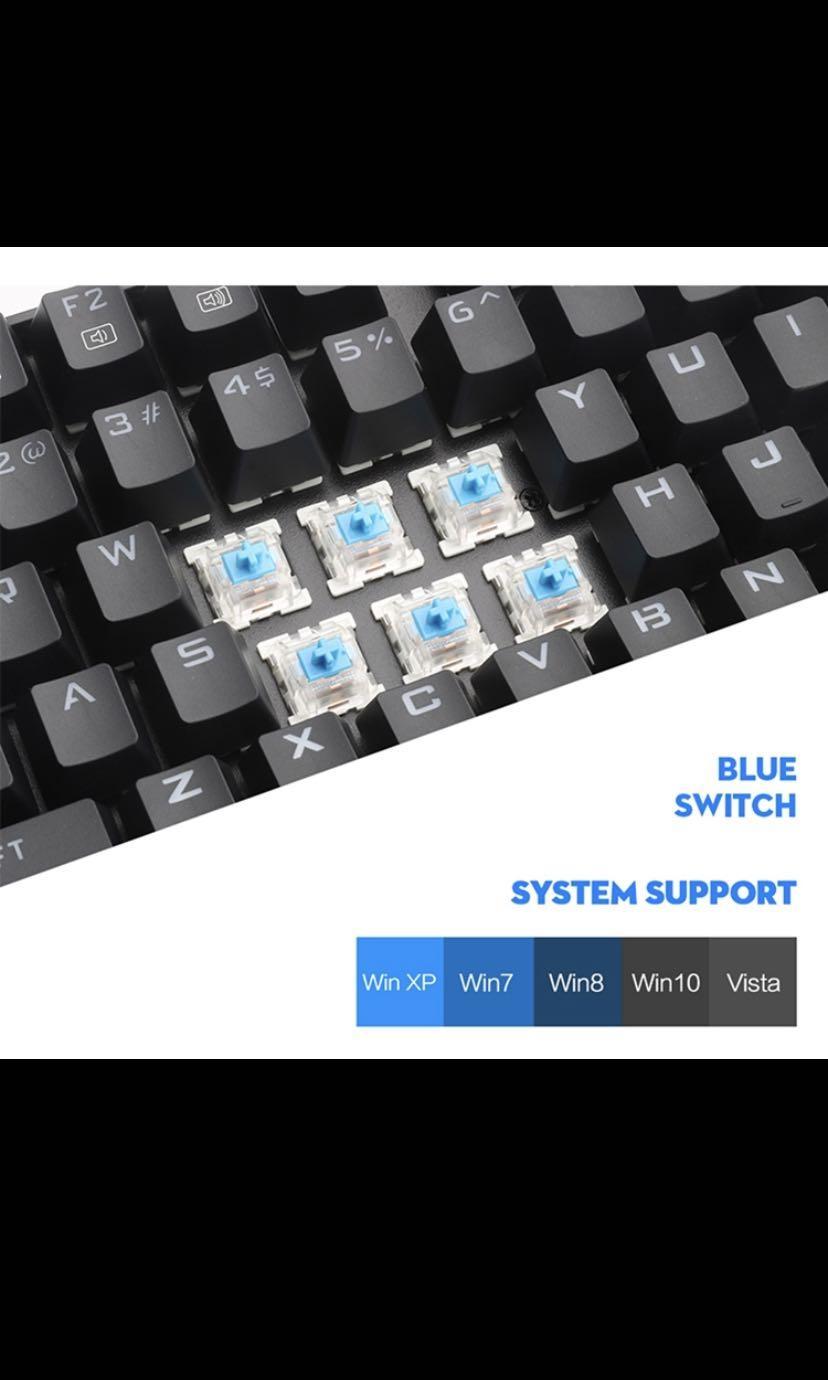 Gaming Keyboard) Redragon K552-RGB Mechanical Gaming