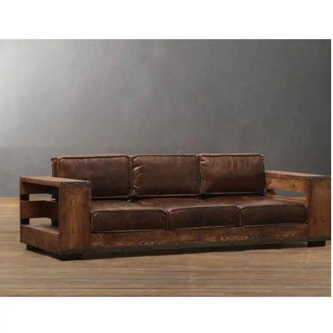 GSS pro Sofa 001 PO Retro Loft Solid Wood PU