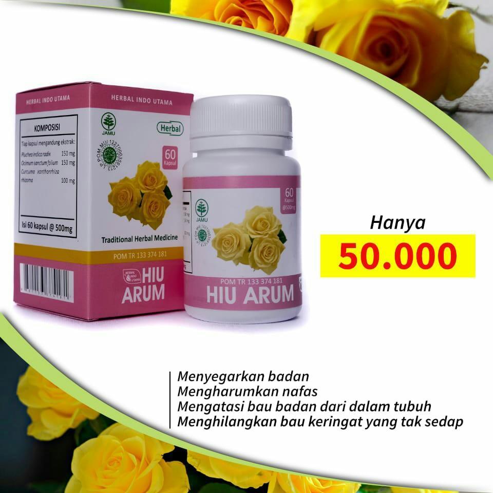 herbal yang dapat menghilangkan bau badan yaitu HIU Arum.