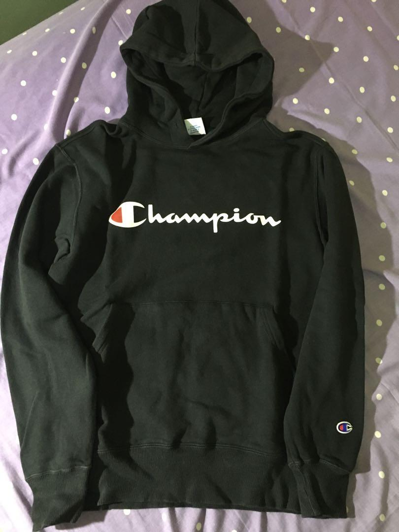 Hoodie Champion black authentic