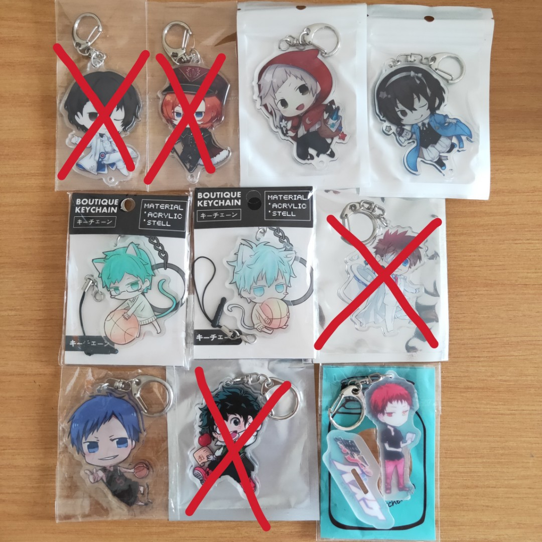 [Instock] Assorted Anime Double Sided Acrylic Keychains