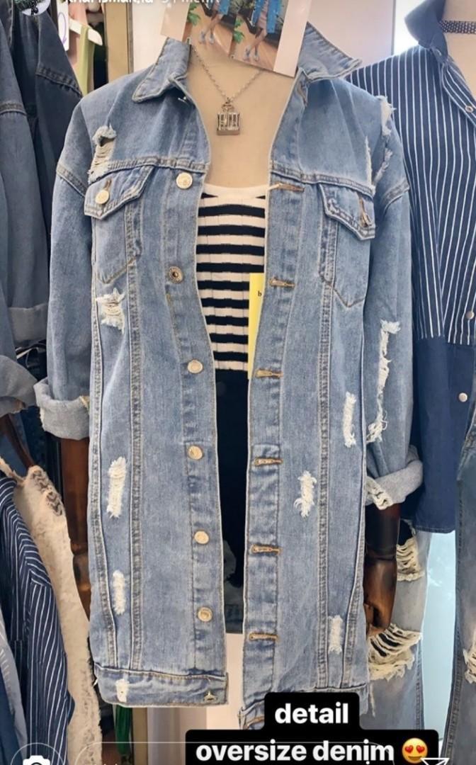 Jaket Jeans Zara Berska look a like long oversize PREMIUM