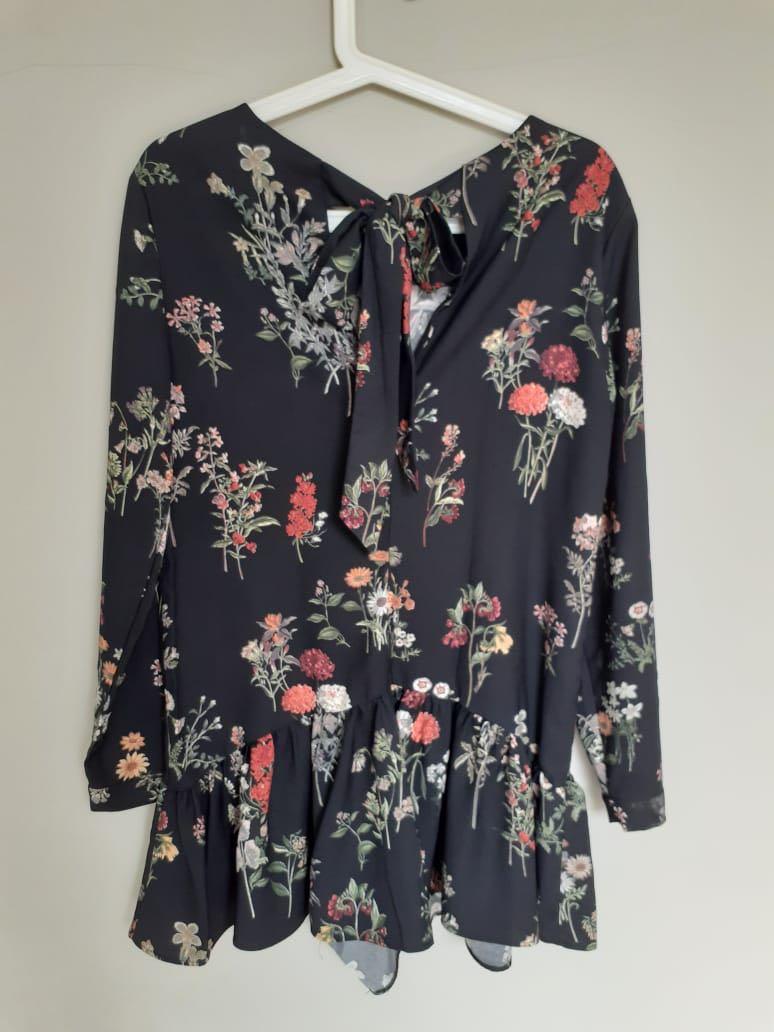 Jumpsuit dress Zara bunga flower