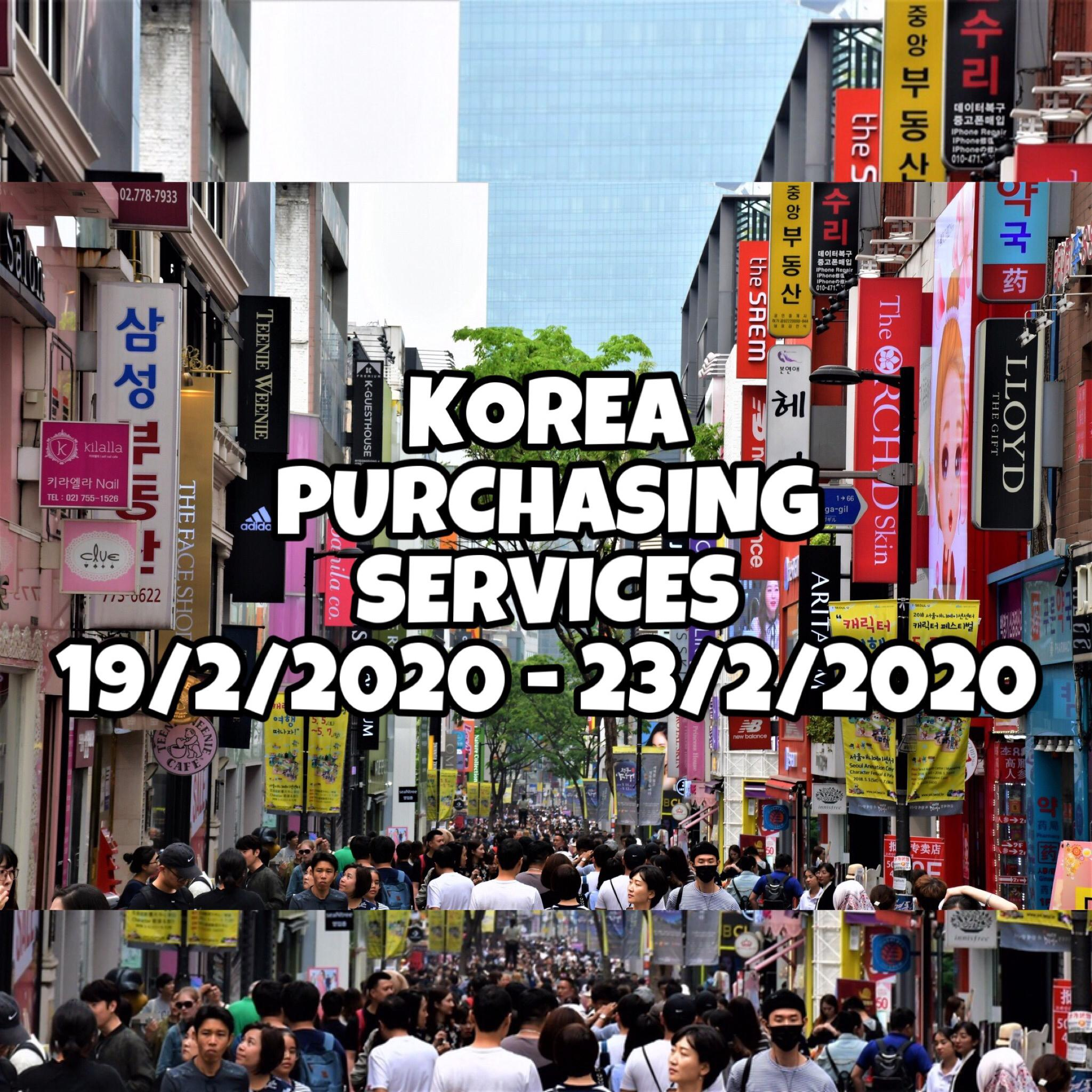 Korea purchasing services ( exo , bts , twice , red velvet , blackpink )