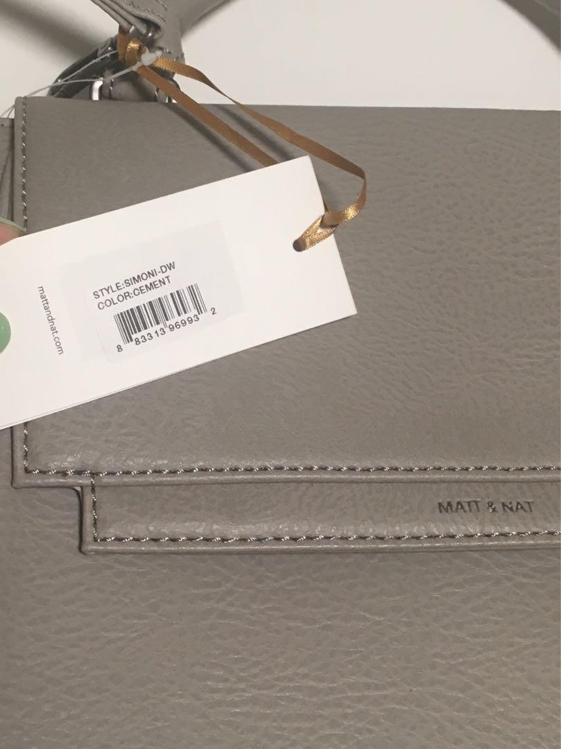 Matt & Nat SIMONI - Koala Matte Nickel brand-new with tags