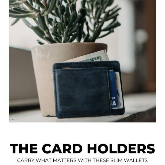 Minimalist rfid blocking wallet - Scout