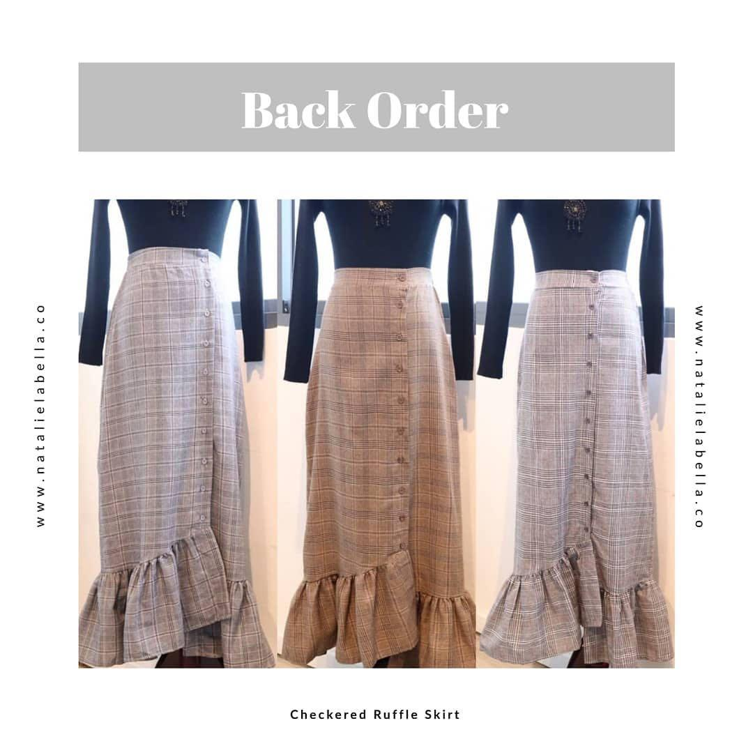 Natalielabella skirt - checkered , frill (BNIB, brand new in bag)