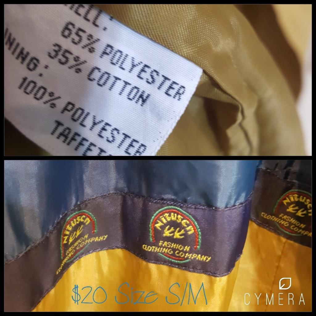 """Nitscli"" Vintage Korean Mustard Spring/Autumn Trench Coat (Size S-M)"