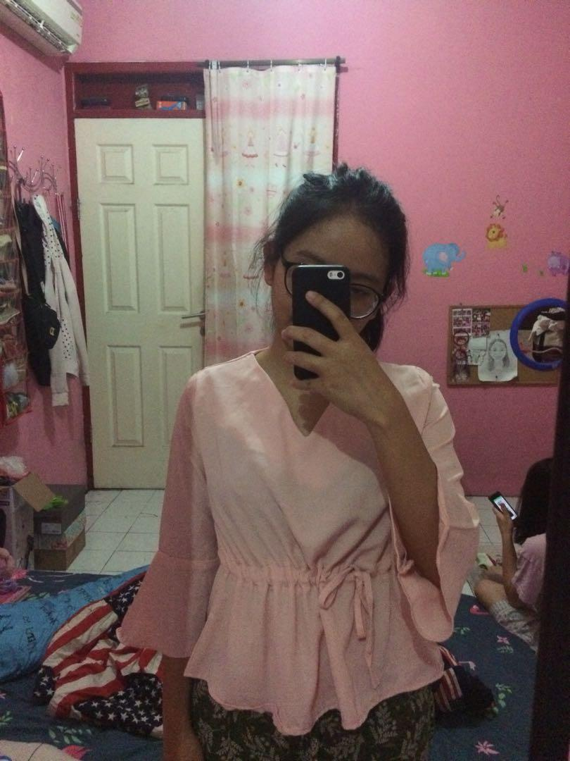 Pink Knotted Top