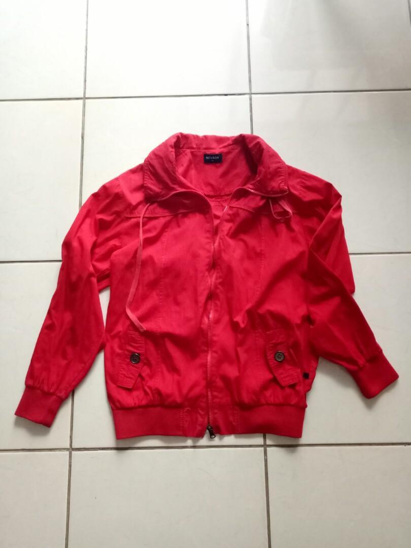Pre❤ Nevada Bomber Red Jacket
