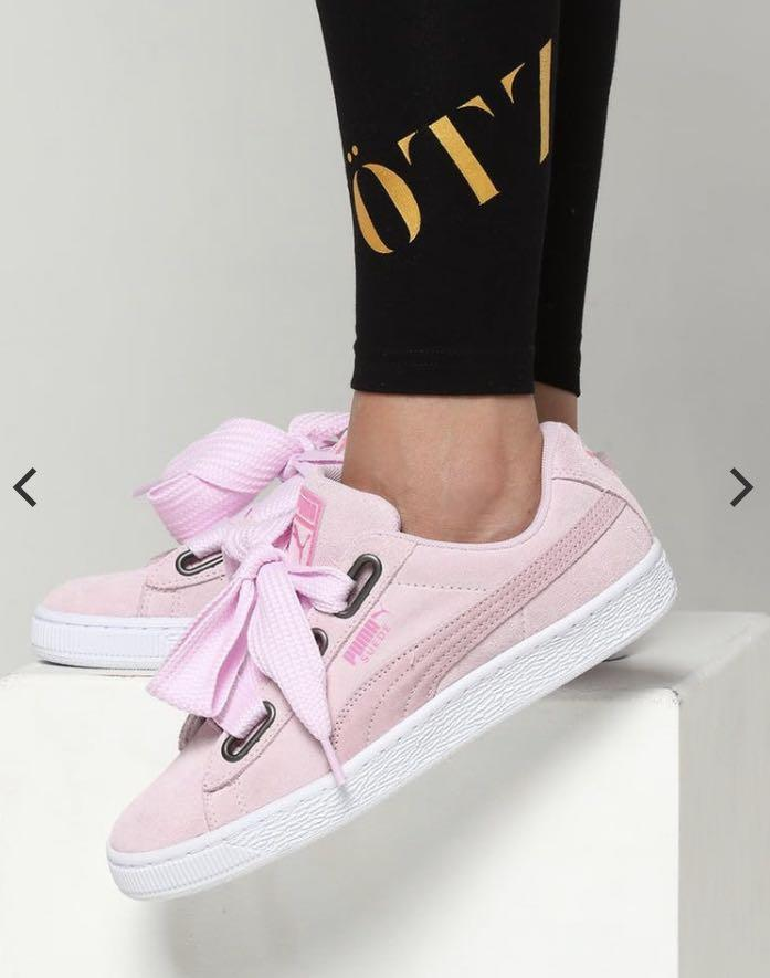 Puma pink suede sneaker