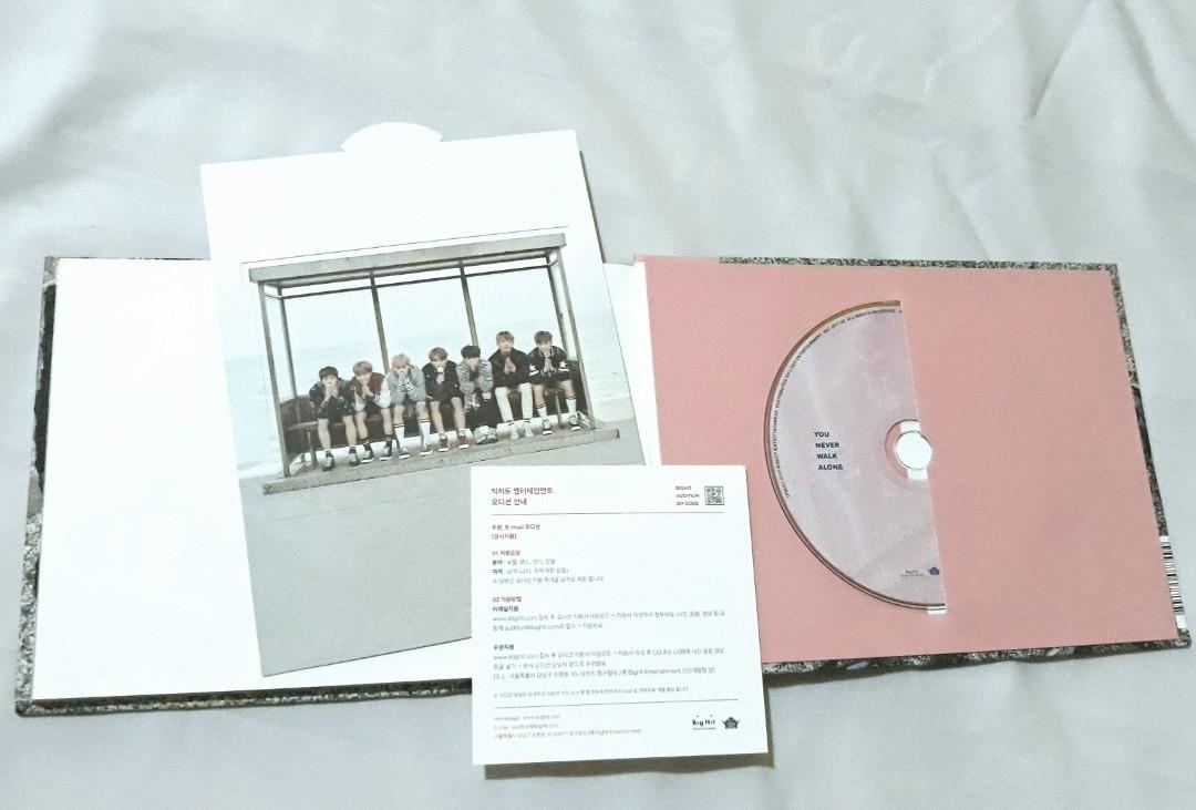 Repackage ALBUM BTS You Never Walk Alone YNWA Pink Version