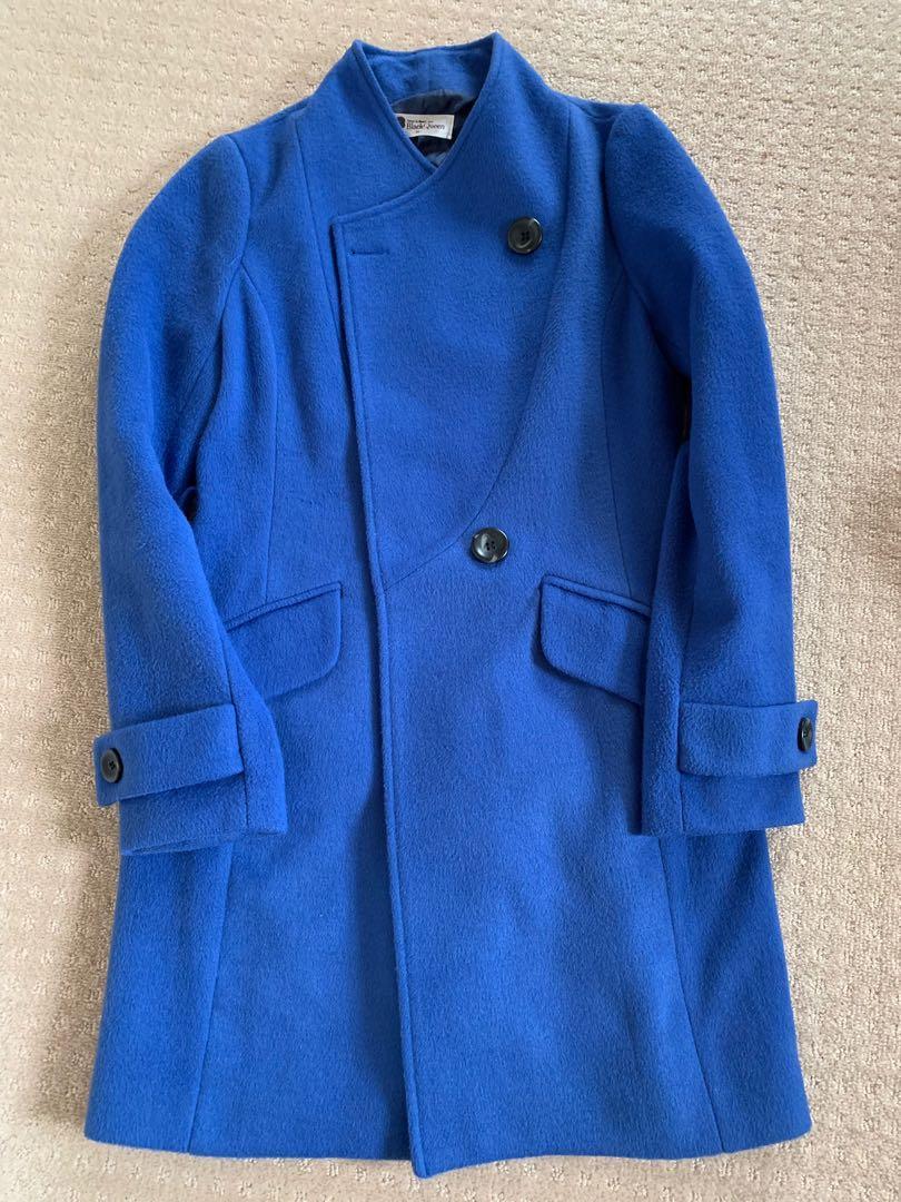 Royal Blue Wool Coat Made in Korea