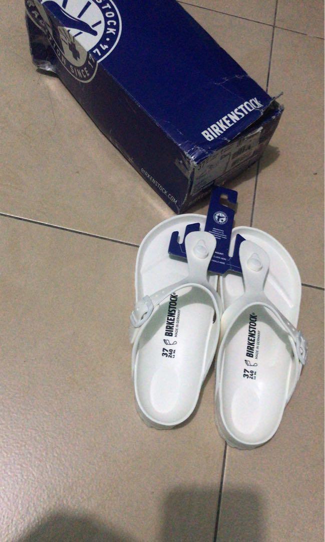 Sandal Birkenstock putih NEW original 1000%