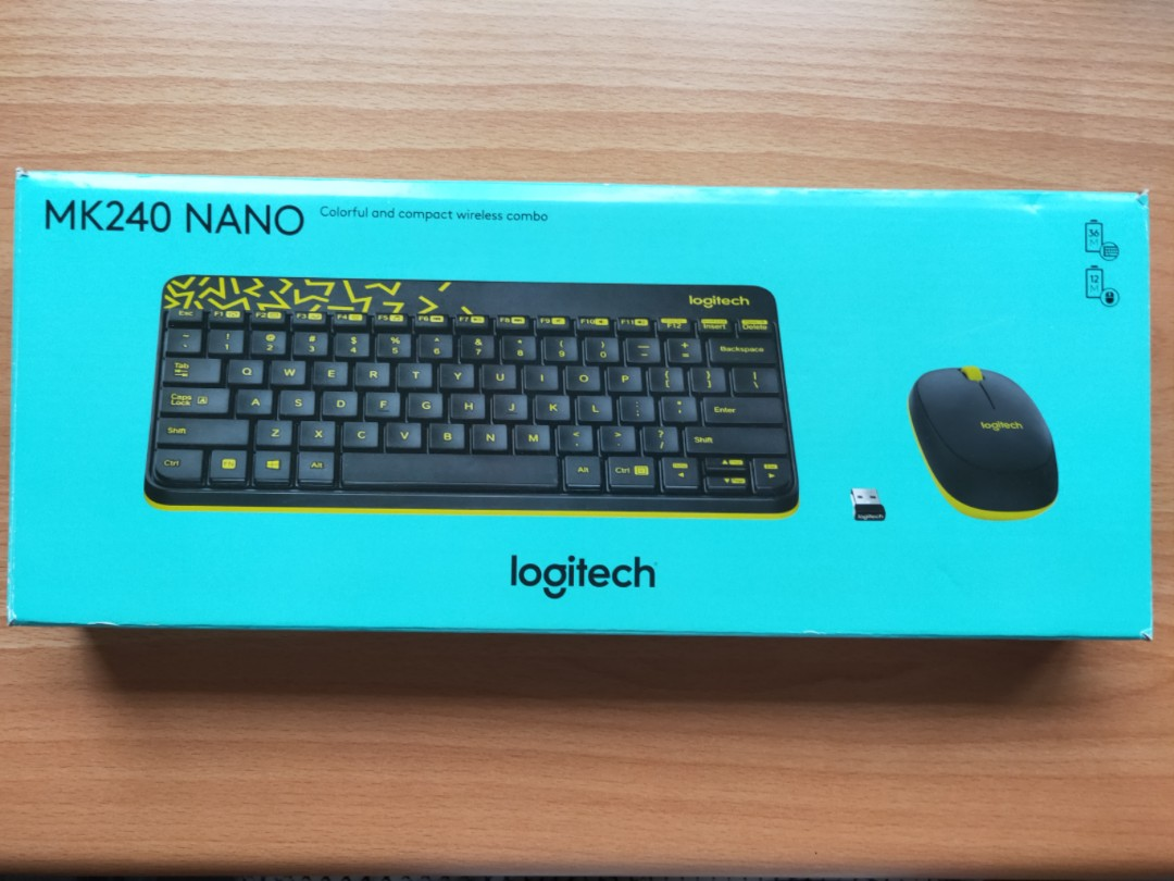 009acc1bd9d Brand New Logitech MK240 NANO Wireless Keyboard and Mouse Combo ...