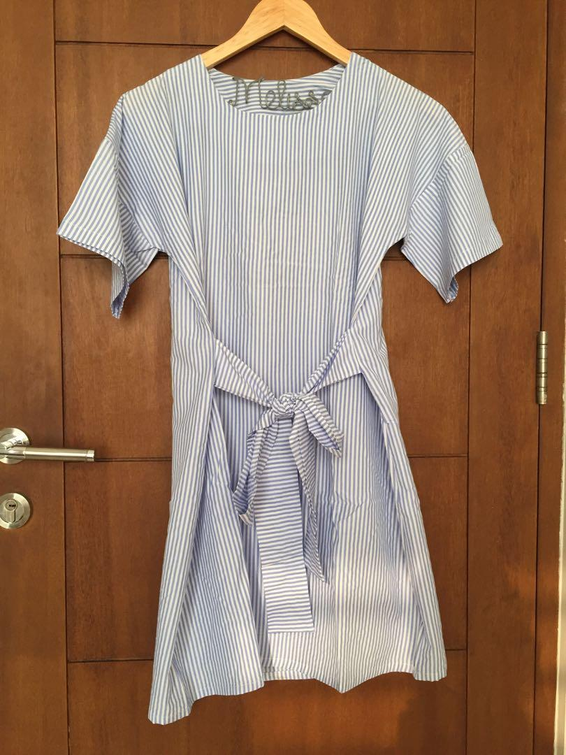 Striped Ribbon Dress