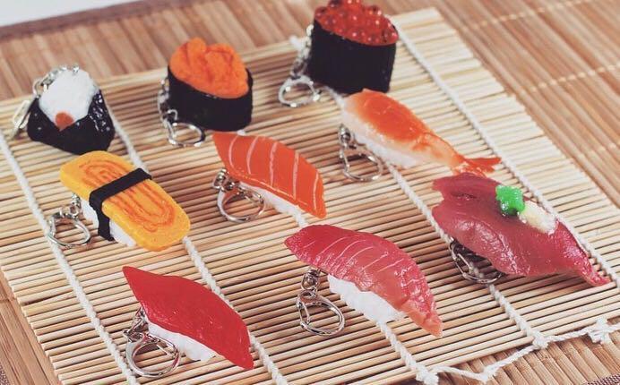 Sushi Keychain