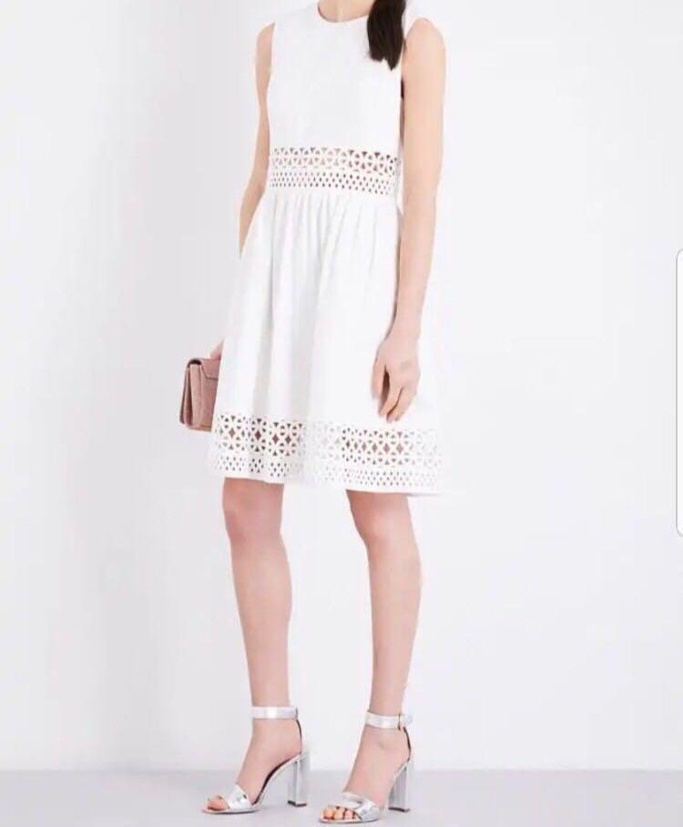Ted Baker White Cutwork Dress Size 2 - Dry cleaned