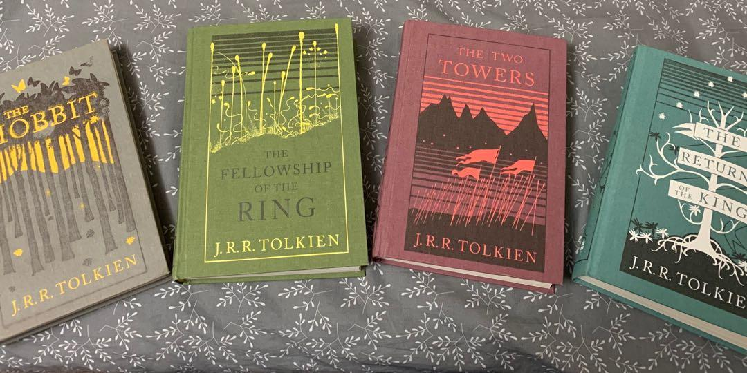 The Hobbit and Lord of The Rings hardcover book collection