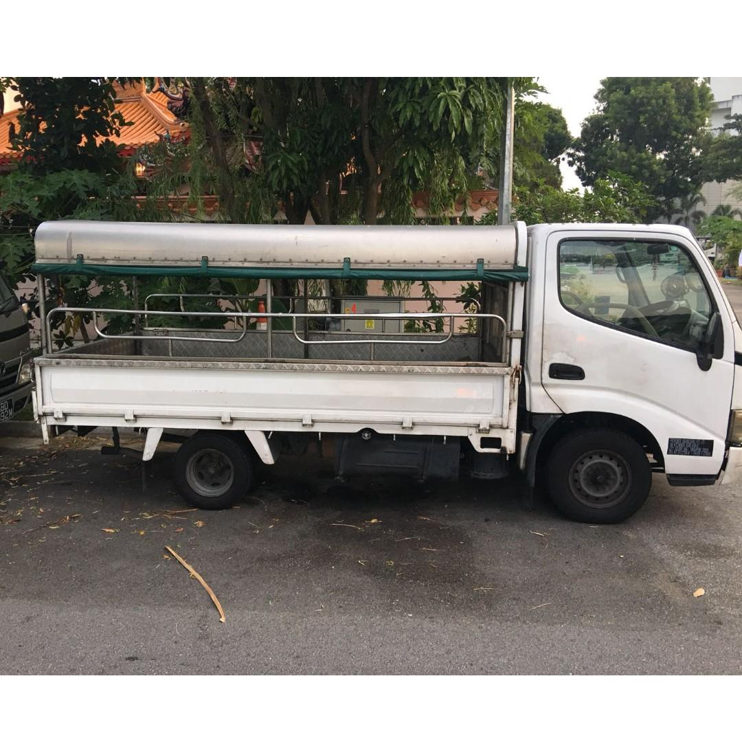 Toyota Dyna 150D 10ft lorry for rental and leasing, Open, Half-canopy, Full-canopy and Box available