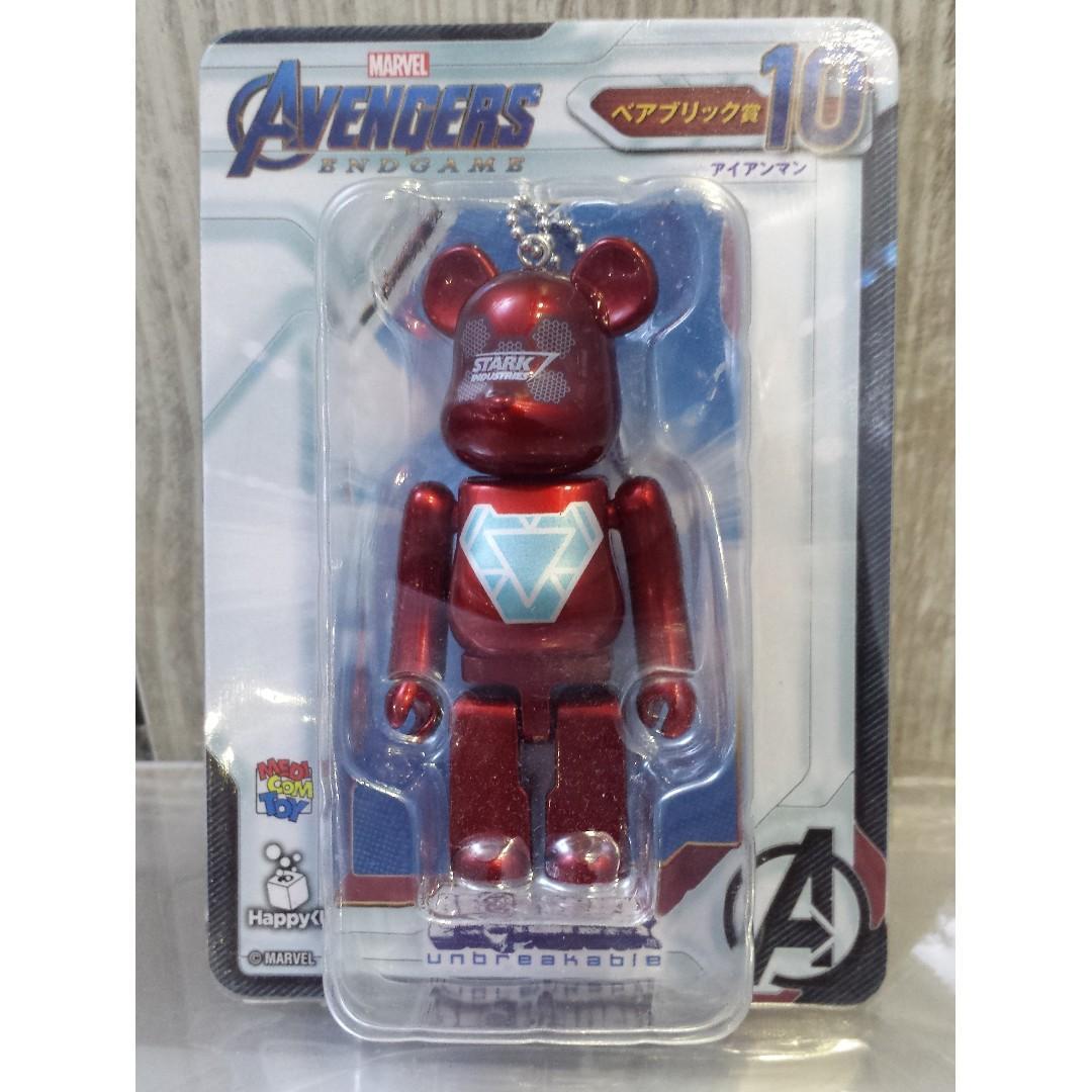 Bearbrick Iron man Be@rbrick AVENGERS ENDGAME happy Kuji New Authentic Japan