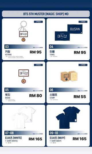 [PREORDER] BTS 5TH MUSTER MD