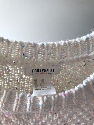 FOREVER 21 GIRLS KNIT SWEATER